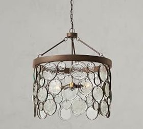 Emery Indoor/Outdoor Recycled Glass Chandelier
