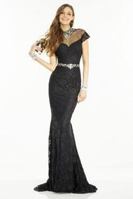 Alyce Paris - 6553 Beaded High Neck Fitted Lace Go
