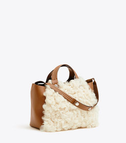 RORY SHEARLING MINI TOTE
