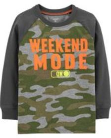 Toddler BoyWeekend Mode Raglan Tee