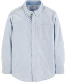 Kid BoyStriped Dobby Button-Front Shirt