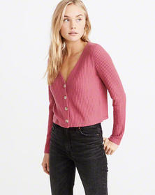 Cozy Waffle Button-Up, PINK