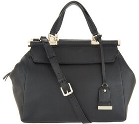 """As Is"" Vince Camuto Solid Leather Satchel - Carla"