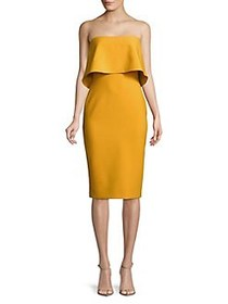 Likely Driggs Strapless Dress GOLDEN ROD