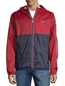 Tommy Hilfiger Colorblock Full-Zip Raincoat RED NA