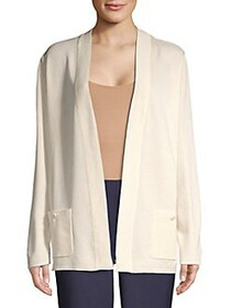 Anne Klein Open Front Knit Cardigan ANNE WHITE