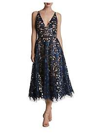 Dress The Population Sequin Lace Fit-&-Flare Dress