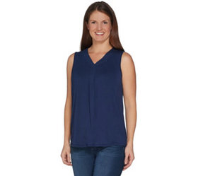 """As Is"" Laurie Felt V Neck Perfect Knit Tank Top -"