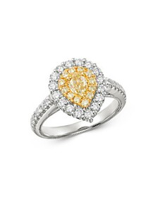 Bloomingdale's - Pear-Shaped Yellow & White Diamon