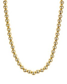 AQUA - Beaded Necklace in 18K Gold-Plated Sterling