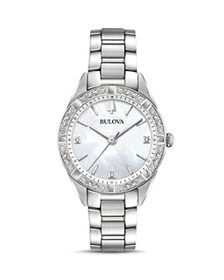 Bulova - Sutton Mother-of-Pearl Dial Watch, 32.5mm