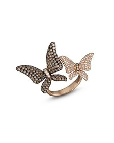 Bloomingdale's - Brown and White Diamond Butterfly