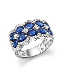 Bloomingdale's - Diamond and Blue Sapphire Double