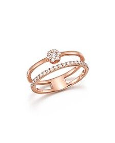 Bloomingdale's - Diamond Two Row Band in 14K Rose
