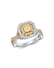 Bloomingdale's - Radiant-Cut Yellow & White Diamon