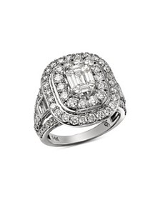 Bloomingdale's - Diamond Mosaic & Double Halo Ring