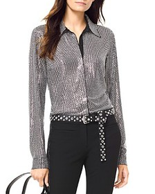 MICHAEL Michael Kors - Embellished Button-Down Shi