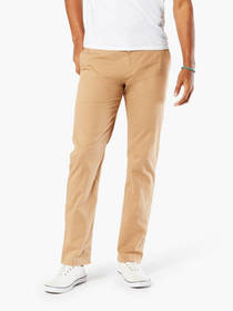 Washed Khaki Pants, Slim Tapered Fit