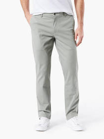 Washed Khaki Pants, Straight Fit