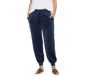 """As Is"" AnyBody Loungewear Petite Velour Jogger Pa"