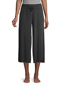 Betsey Johnson Wide-Leg Lounge Pants BLACK on sale at Lord & Taylor