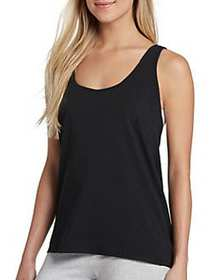 Jockey Retro Stripe Racerback Tank BLACK