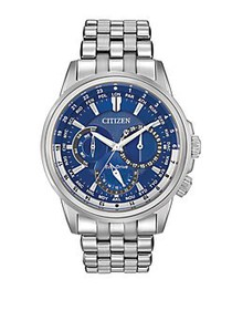 Citizen Mens Calendrier Eco-Drive Stainless Steel