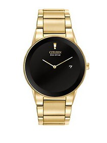 Citizen Eco-Drive Yellow Goldtone Stainless Steel