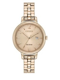 Citizen Eco-Drive Stainless Steel Watch ROSE GOLD
