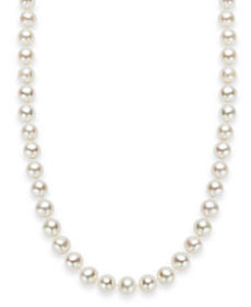 "18"" Cultured Freshwater Pearl Strand Necklace (7-8"