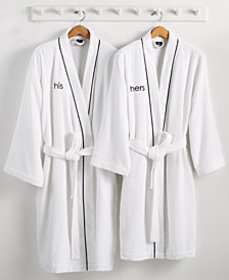 Hotel Collection His or Hers Robe, 100% Turkish Co