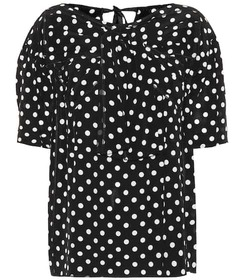 Marc Jacobs Polka-dot silk top