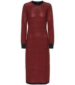 Marc Jacobs Zigzag stripe merino wool dress