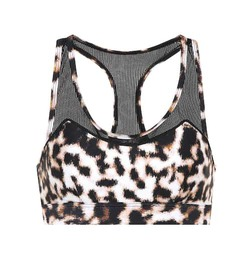 The Upside Chrissy leopard-printed sports bra
