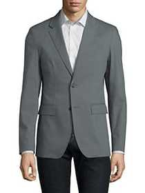 Solid Homme Stretch Fitted Blazer GREY