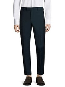 The Kooples Flat Front Wool Trousers BLUE