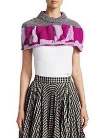 CALVIN KLEIN 205W39NYC Quilted Graphic Macro Crop