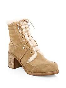 Tabitha Simmons Leo Shearling-Lined Suede Booties