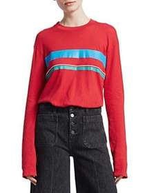 Elizabeth and James Melody Long Sleeve Stripe Shir