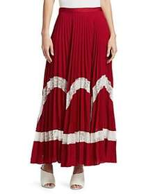 Elizabeth and James Regina Pleated Maxi Skirt RUBY