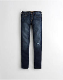 Hollister Classic Stretch Low-Rise Skinny Jeans, D