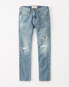 ripped skinny jeans, RIPPED MEDIUM WASH