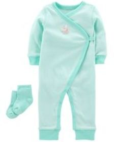 Osh Kosh Baby Girl2-Piece Jumpsuit & Sock Set