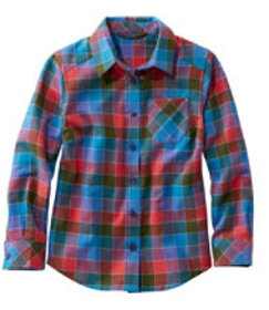 LL Bean Girls' Flannel Shirt, Plaid