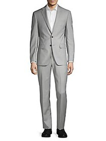 Calvin Klein Wool-Blend Sharkskin Suit GREY
