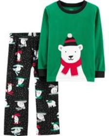 Osh Kosh Baby Boy2-Piece Christmas Fleece PJs