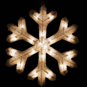 Northlight Seasonal 20in. Pre-Lit Silver Snowflake