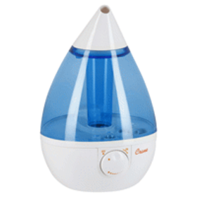 Crane Drop Ultrasonic Cool Mist Humidifier, Blue/W