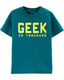 Osh Kosh Baby BoyGeek In Training Jersey Tee