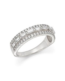 Bloomingdale's - Baguette and Round Diamond Ring i